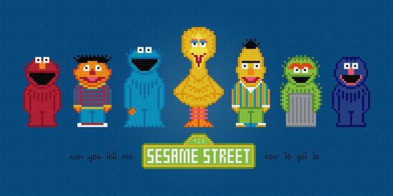 Sesame Street Characters  Cross Stitch PDF by pixelpowerdesign, $7.00