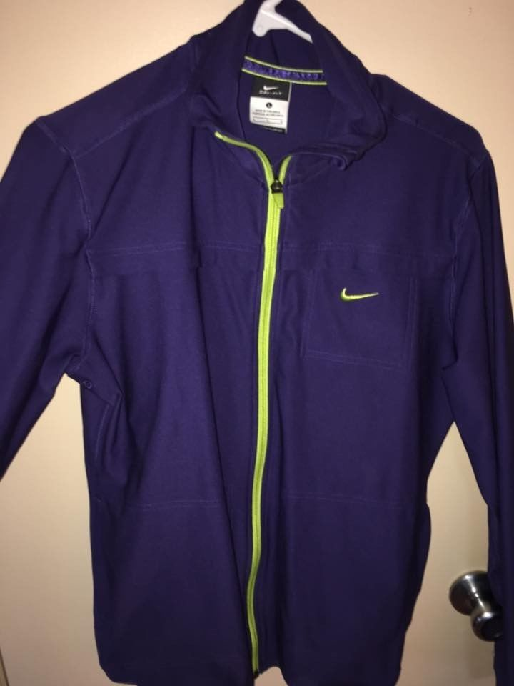 34b6ff3edff Nike Purple Lime Green Exercise Coat Women s Large  fashion  clothing  shoes   accessories  womensclothing  activewear (ebay link)
