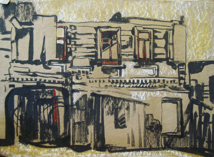 sketches by Zorina Getman (charcoal, ink, pastel)