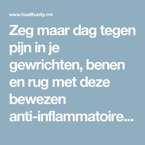 Zeg maar dag tegen pijn in je gewrichten, benen en rug met deze bewezen anti-inflammatoire smoothie   Health Unity