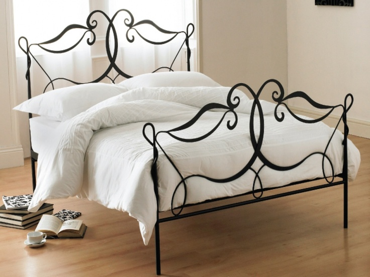 montpellier black wrought iron bed