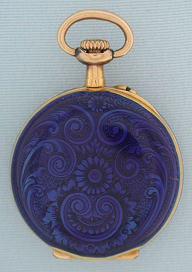 I mean, it IS cool.  18K gold and enamel miniature antique ladies pendant watch by LeCoultre circa 1890.