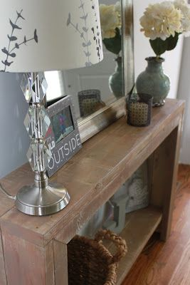 A Bowl of Creativity - The entryway table that I made :)