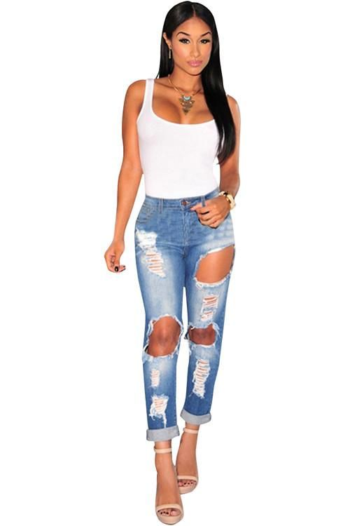 Push Up Ripped Jeans