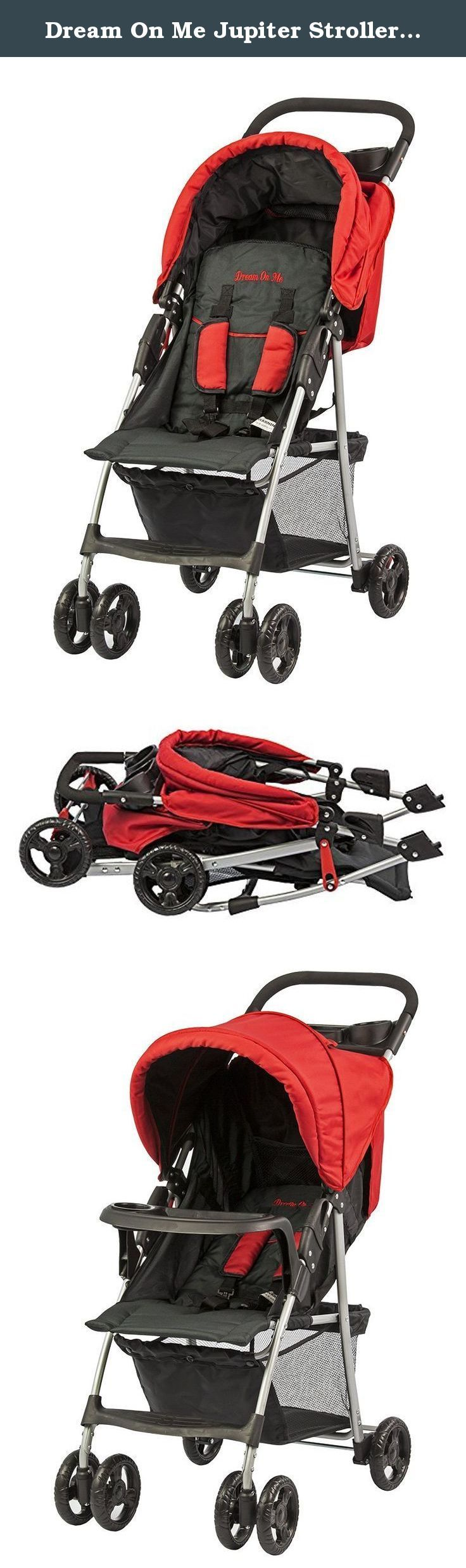 Dream On Me Jupiter Stroller, Black and Red, Small. Dream