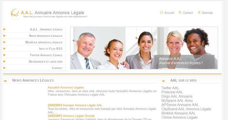 Un article sur l'annuaire AAL qui est paru sur l'Agence annonces légales.