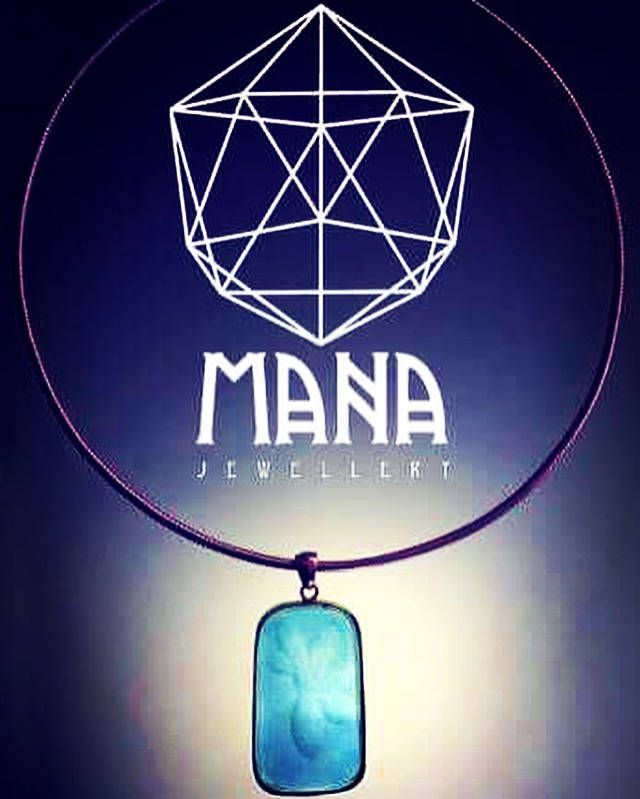 Blue crystal flower pendant by Mana jewelry by MANAByGekova on Etsy