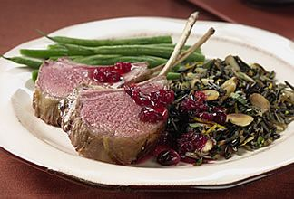 Cranberry-Marinated Rack of Australian Lamb with Almond Wild Rice | Australian Lamb