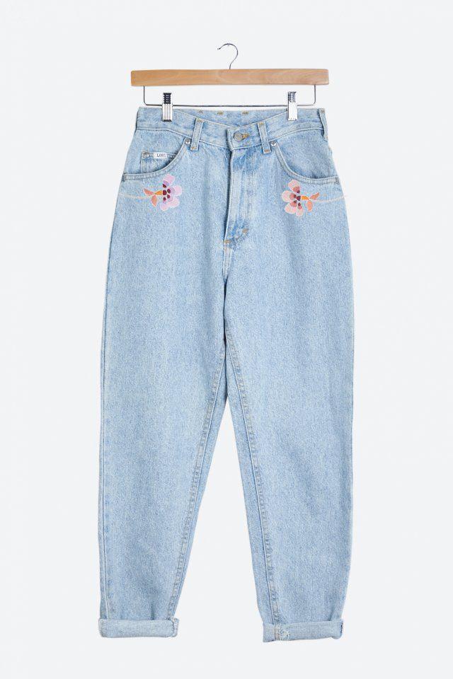DIY broderie : jean brodé par DMC - Marie Claire Idées
