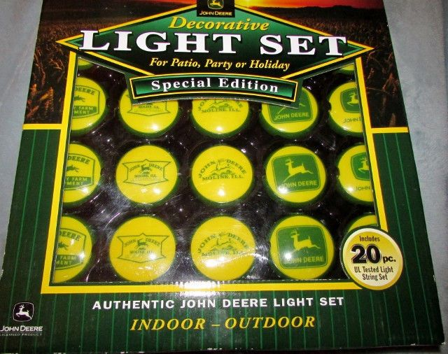 John Deere Outdoor Lighting: John Deere Decorative Light Set Special Edition Indoor Outdoor Patio Party  NEW,Lighting