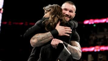 Randy Orton And Stephanie Mcmahon Stephanie McMahon hugs...