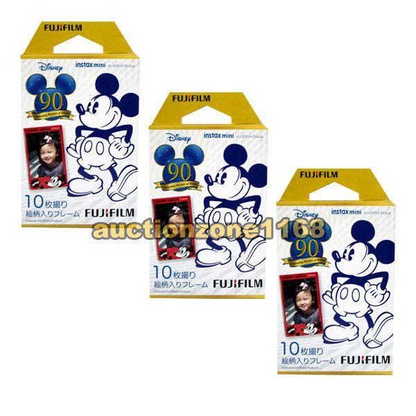 30PCS Fujifilm Instax 90 Years Disney Mickey Film for Fuji Mini 90 8 7s 70 SP-1 #Fujifilm