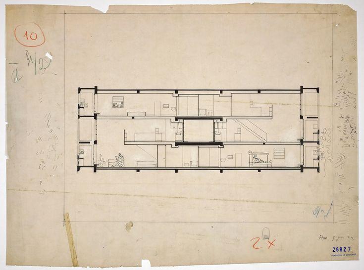 177 best arch form images on pinterest architecture architecture drawings - Unite d habitation dimensions ...