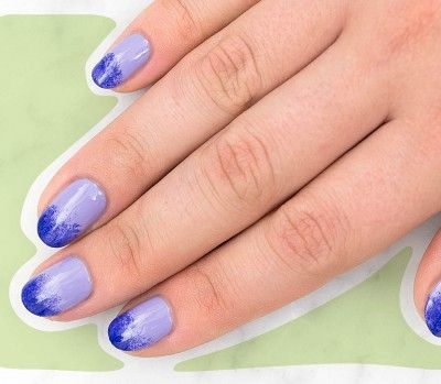 two tone manicure mani at home two toned mani two tone manicure