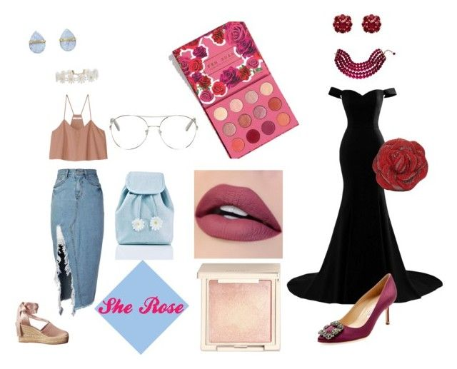 """She 🌹Rose"" by angelaabril on Polyvore featuring moda, TIBI, Jouer, Melissa Joy Manning, Humble Chic, storets, Tory Burch, Sugarbaby, Manolo Blahnik y Chloé"