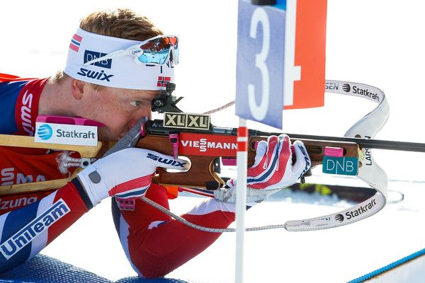 Johannes Thingnes Boe of Norway wins the silver medal during the IBU Biathlon World Championships Men's Sprint on February 11, 2017 in Hochfilzen, Austria.
