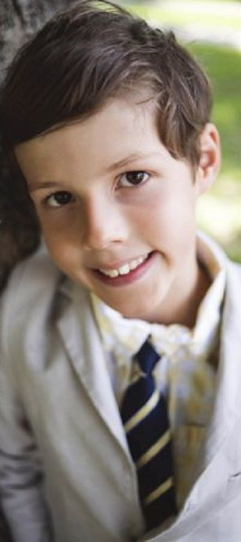 Luxembourg Prince Gabriel poses on the occasion of his First Holy Communion, 24.05.2014