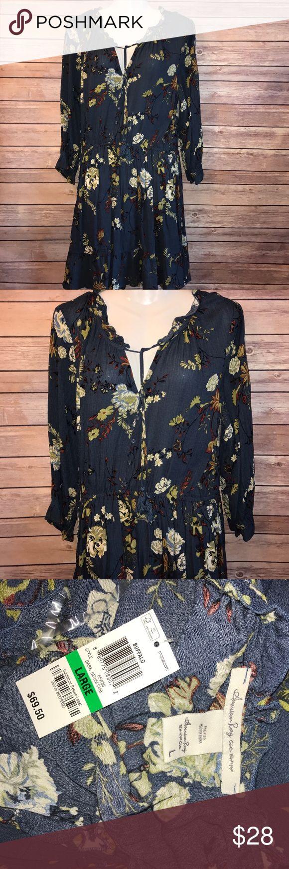 Long sleeve dress Brand new!! Long sleeve dress size:L brand: American Rag American Rag Dresses Long Sleeve