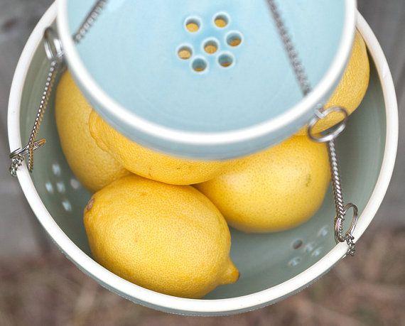 Ceramic Hanging Colander - Ceramic Fruit Basket - Handmade Ceramics | Etsy Home - Farm & Pretty www.farmpretty.com