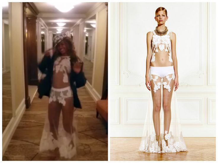 : Beyonce  7/11  Wears  Givenchy Resort 2011 Gown