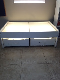 DIY Light Table. SOOO glad I found this! I will definitely be making this for Cam this summer!