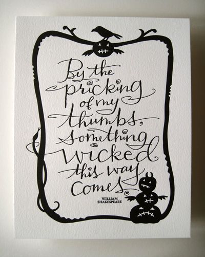 halloween card: Holiday, William Shakespeare, Hallows Eve, Halloween Quote, Wicked