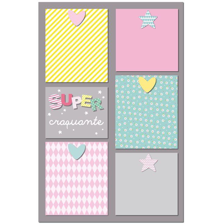 Le pêle-mêle Super mademoiselle 5 vues  de la marque Titoutam vous permettra de glisser vos plus belles photos pour décorer la chambre de votre enfant !