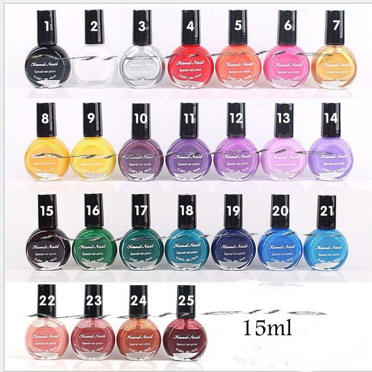 25 cores UV unhas de Gel polonês para Nail Art Stamping impressão óleo 10 ML especial esmalte pintado alishoppbrasil