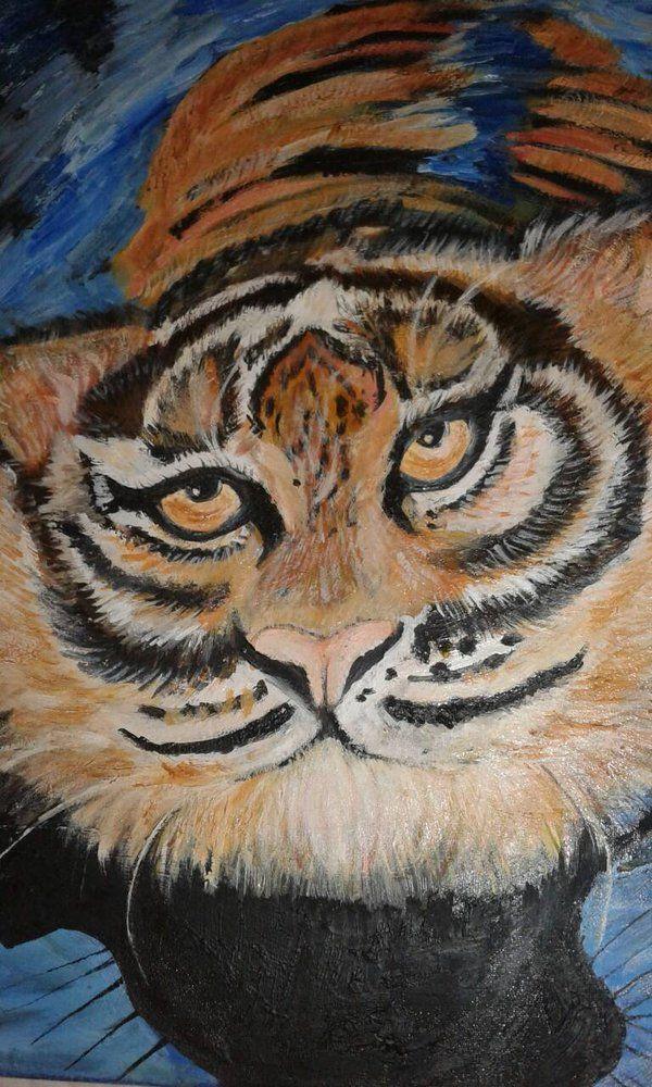 Oil painting textured Ana Lemos