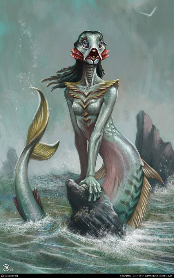 The Little Mermaid by Des Hanley. Not crazy about the face - but no nipples makes sense - underwater creatures with gills would nurse?