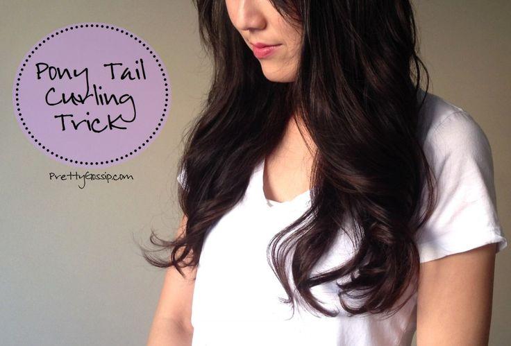 Pretty Gossip | {Pony Tail Curling Trick} Loose Curls in 2 Minutes! | http://www.prettygossip.com