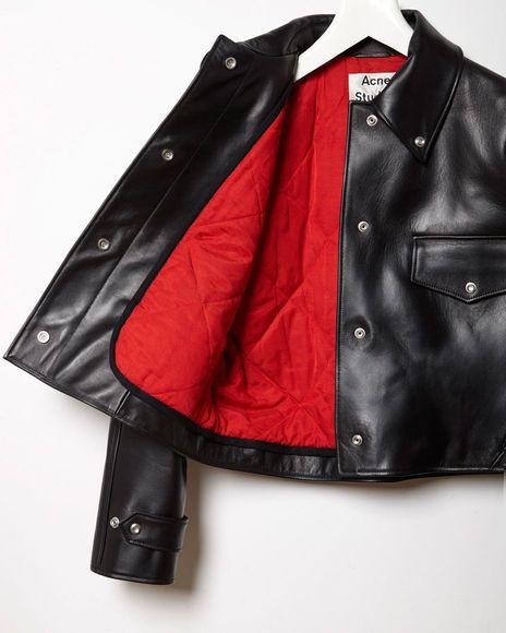 ACNE Studios Chrismo Leather Jacket: Ombler