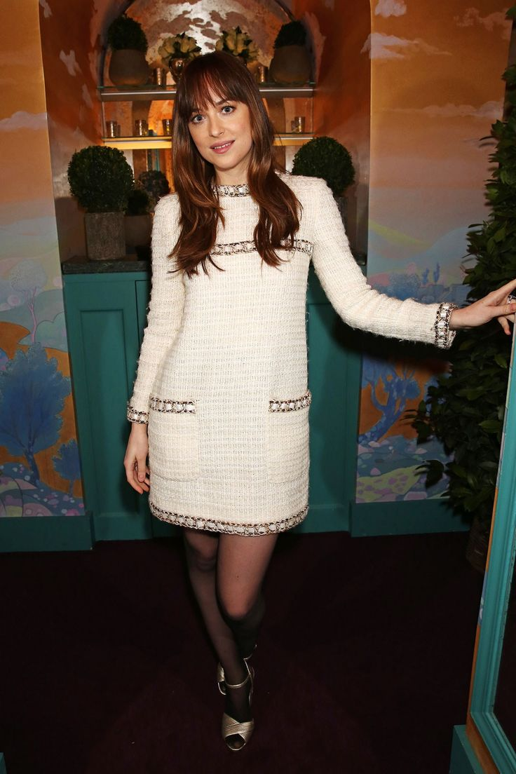 February 13 2016 She wore a Chanel shift dress to The Charles Finch and Chanel Pre-BAFTA's Dinner.