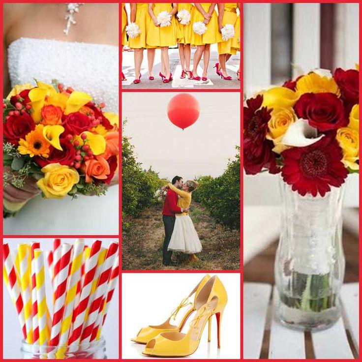 Casamento Amarelo E Vermelho A Alegria Em Sintonia Com O Romantismo Red Yellow Weddingsyellow