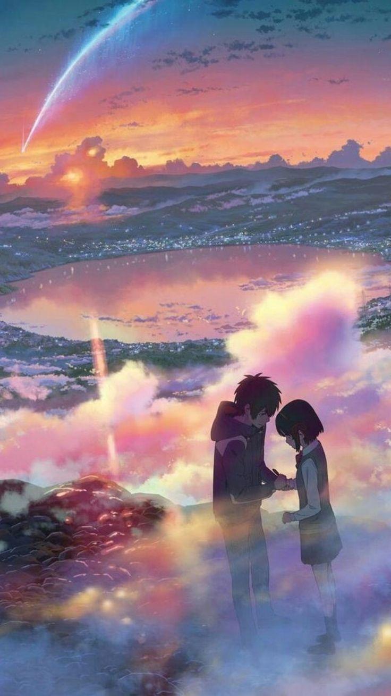 Your Name 🌌 IPhone Wallpaper Seni anime, Pemandangan