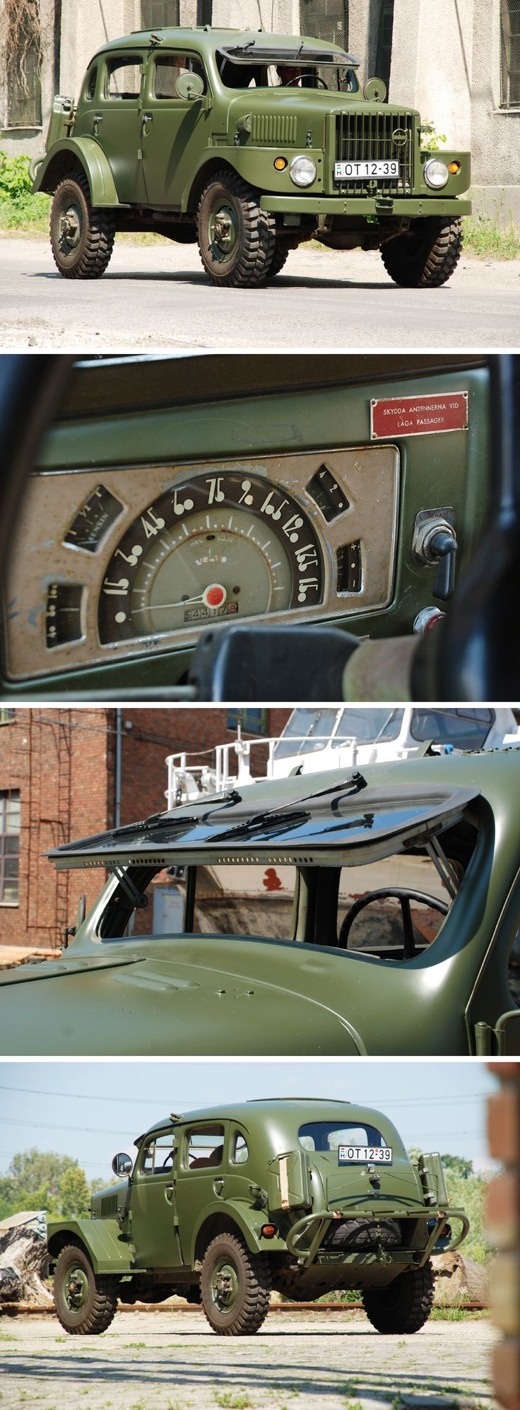 1956 Volvo TP21 Sugga - check out the font used on the instrument panel!