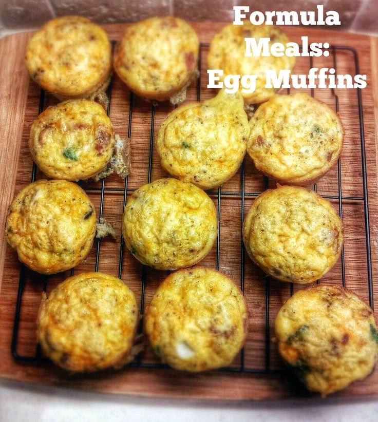 My answer to busy mornings are these easy breakfast egg muffins! #formulameal