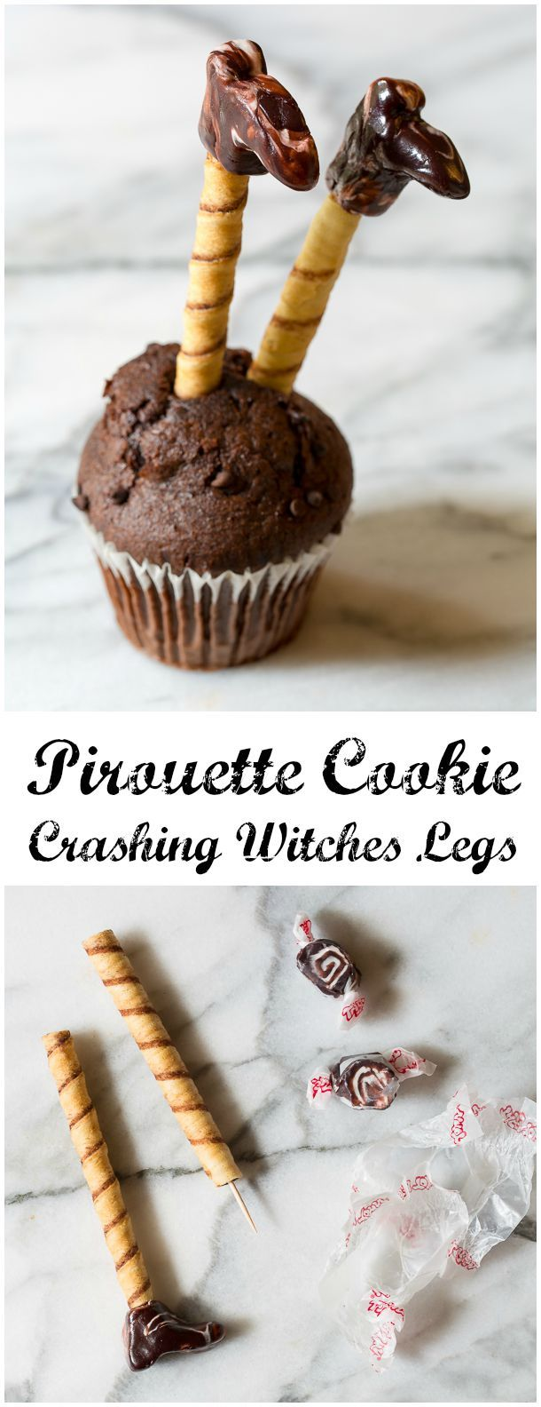Learn How to Make Crashing Witches Legs - 5 Easy Halloween Treats Made with Pirouette Cookies!