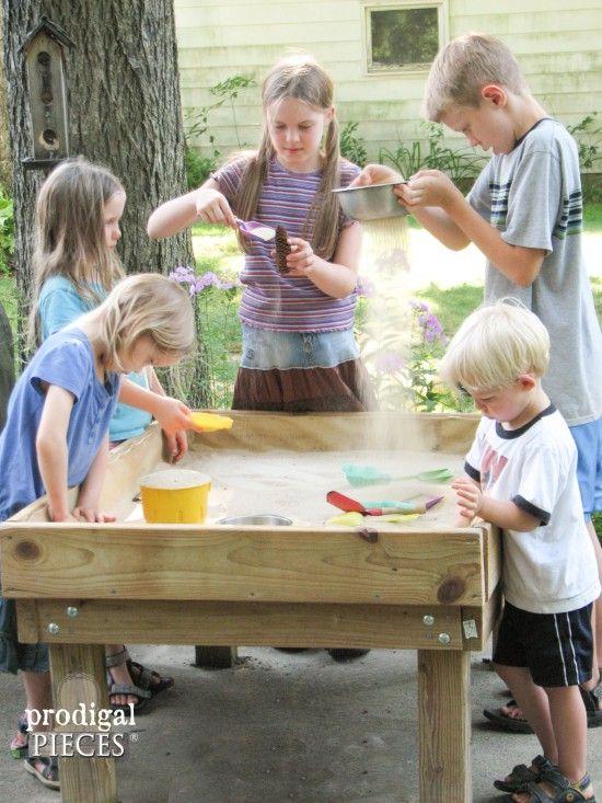 Backyard Fun ~ DIY Style #1 ~ Sand Table