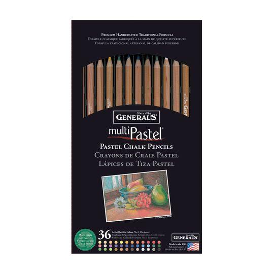 General's MultiPastel Chalk Pencil Set, 36 Count