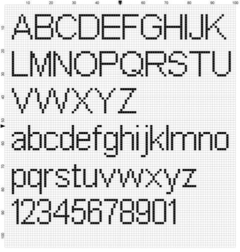 fonts for cross stitch