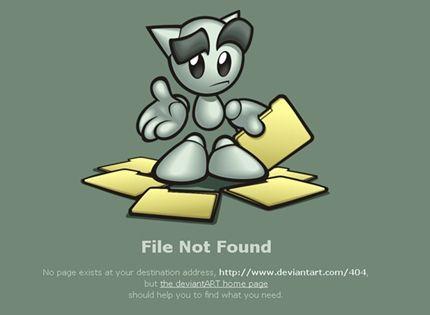 404 Error Page Design | http://www.deviantart.com/404