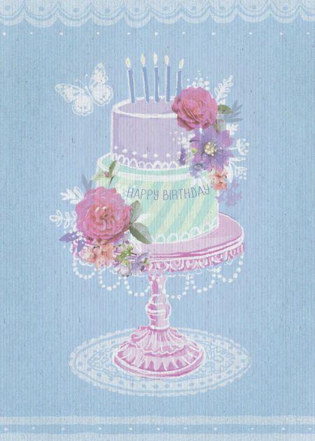 Happy Birthday Cake Stand
