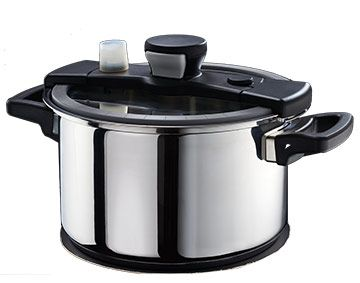 Features/Specifications Product code: RHSIZZLE A low pressure steamer cooking system Thermal sandwich capsule base with non-porous aluminium core 18/10 stainless steel pot for all stove types Combines the advantages of the common ways of cooking with pressure cooking and steaming The lid's patented one-hand closing mechanism enables easy use and closes with an air tight seal onto the pot The unique, patented lid construction lets you open the lid at anytime. 5Lt capacity