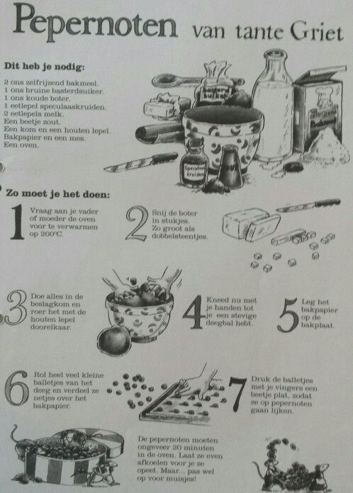 Koken: pepernotenrecept