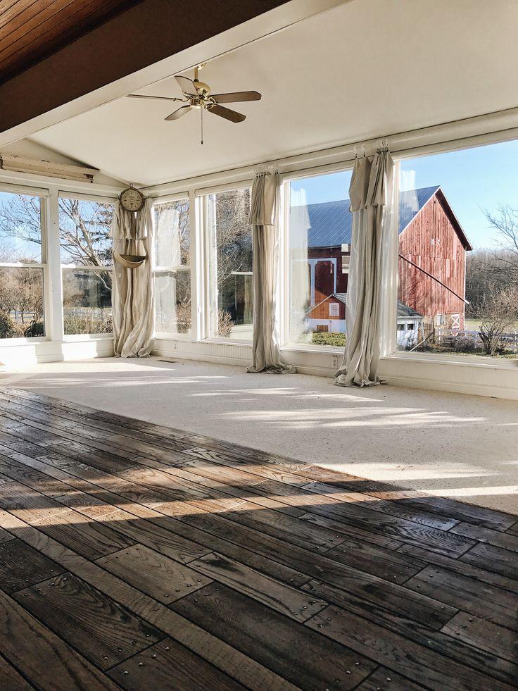 Sun Room inspiration - huge windows.