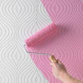 Found it at AllModern - Paintable Curvy Geometric Wallpaper