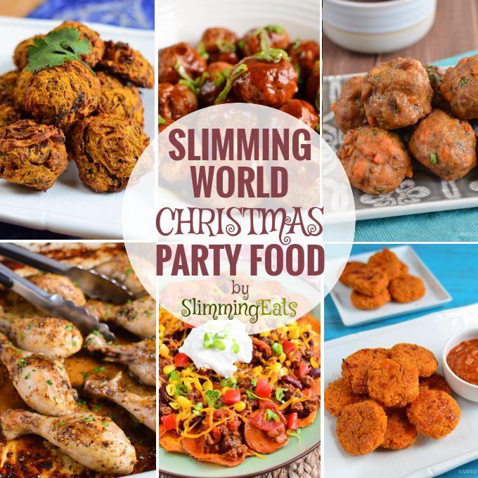 Slimming Eats Christmas Party Food - lots of ideas and suggestions for party food over the festive food - sweet, savoury, sharing plates and fakeaways