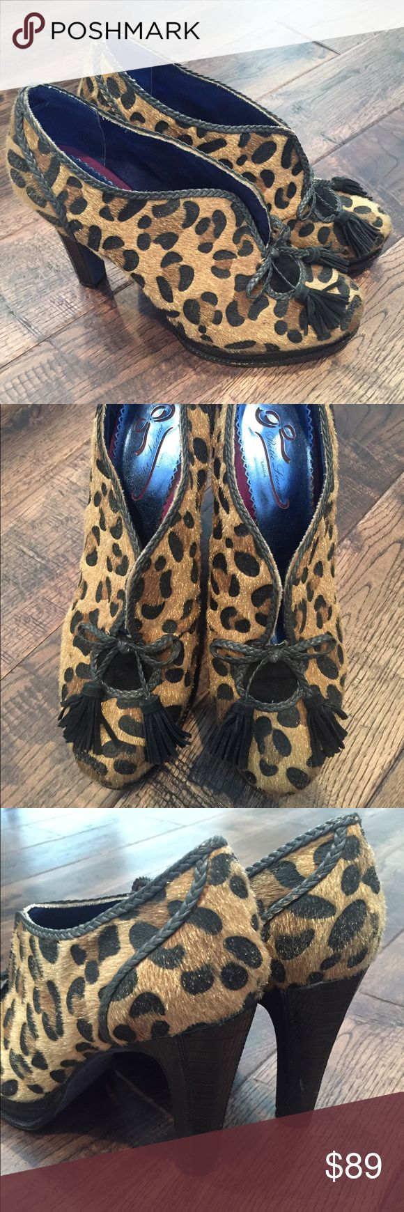 Poetic License Leopard Print Heels size 10 Great shoes from a smoke free home - gently used - please see pics for details. Poetic License  Shoes Heels