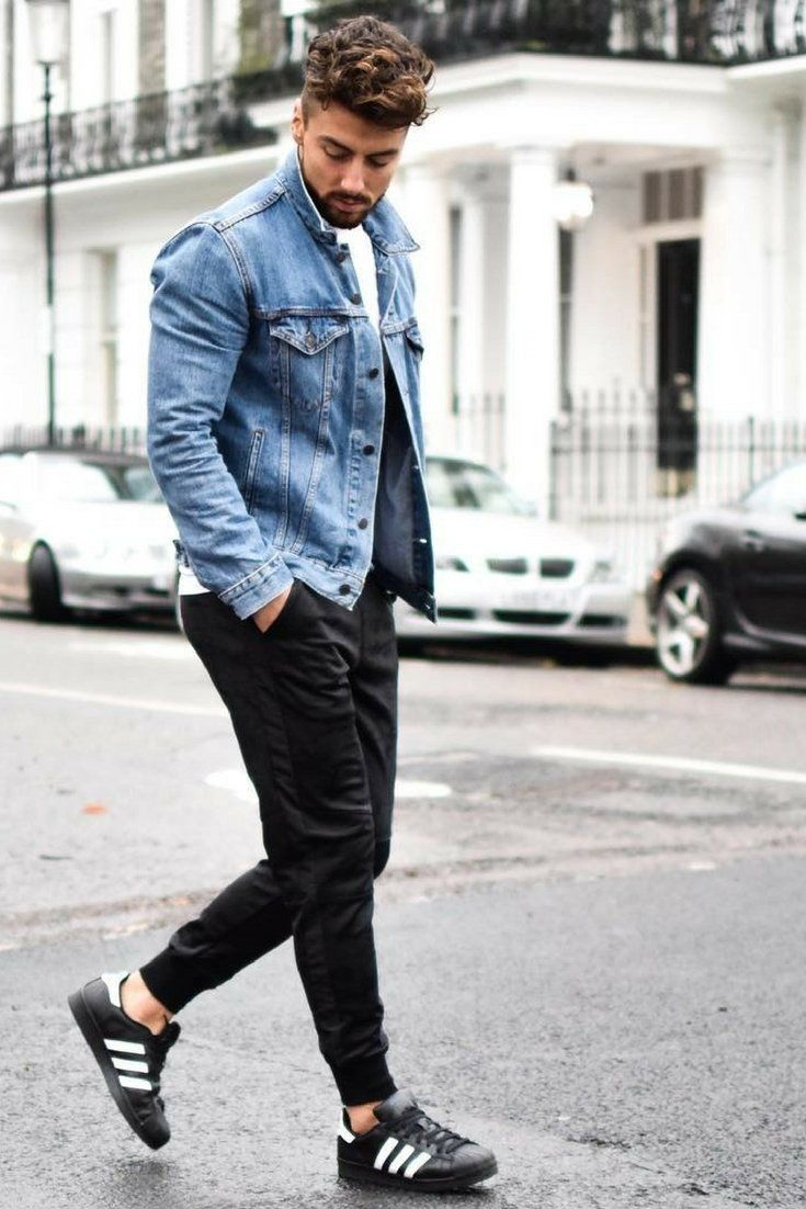 How to wear denim jacket for men #mensfashion #denimjacket #fashion